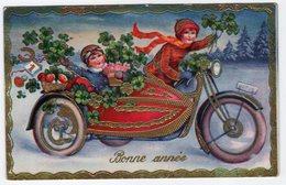 Bonne Année Moto Sidecar - New Year