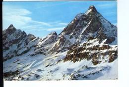 S67 Cartolina Della Val D' Aosta - Il M. Cervino Visto Dal Furggen + Neve, Snow _ VIAG. - Other Cities