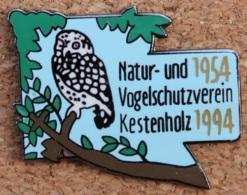 HIBOU - CHOUETTE - NATUR UND VOGELSCHUTZVERIEN KESTENHOLZ 1954 / 1994 -                          (12) - Animaux