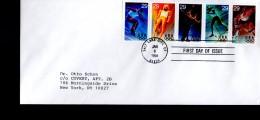 USA  FDC Jo 1994 Luge Ski De Fond Patinage Hockey Sur Glace - Hockey (Ijs)