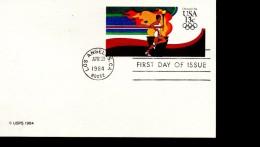 USA  FDC Carte  Pap Jo 1984 Flamme - Summer 1984: Los Angeles