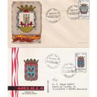 ESSPDESCUDOSSTV-LFTSPDESCUDOSTESC.Sobres Del 1º Dia.SPD.ESCUDOS PROVINCIALES  DE ESPAÑA.1962/58 - Escudos De Armas