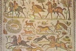 Mosaîque- Scéne De Chasse (musée Du Bardo) - Tunisia