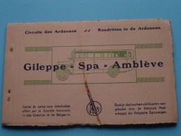 Rondritten In De ARDENNEN GILEPPE-SPA-AMBLEVE () Carnet 10 PK / CP ( Zie Foto´s Voor Details ) !! - Belgien