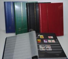 2 ALBUMS TIMBRES LEUCHTTURM FOND NOIR 64 PAGES - Large Format, Black Pages