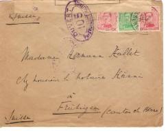 TP 137-138(2) S/L.c.Ixelles 3/12/1918 V.Frütigen Suisse Controle Postal Militaire C.d'arrivée PR3544 - Postmark Collection