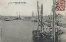 14, Calvados, OUISTREHAM, Embouchure Du Canal De Caen à La Mer,Bateaux, Scan Recto-Verso - Ouistreham