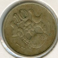 Chypre Cyprus 10 Cents 1985 KM 56.2 - Chypre
