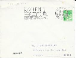 ROUEN -  N° 963 S   -   ROUEN / VILLE MUSEE / CENTRE DE TOURISME  1961 - Marcophilie (Lettres)