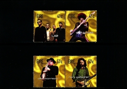 IRELAND/EIRE - 2002  IRISH ROCK LEGENDS  SET  MINT NH - 1949-... Repubblica D'Irlanda