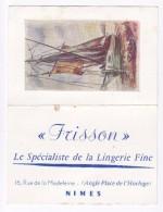 1961 CALENDRIER  Lingerie Frisson  NIMES - Petit Format : 1961-70