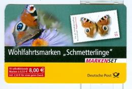 BRD Markenheft MH Mi. 60 Postfr. Schmetterling 2005 Tagpfauenauge - Vlinders
