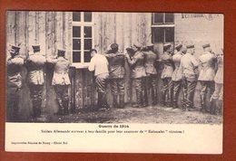 1 Cpa Soldats Allemands Ecrivant A Leur Famille - Guerre 1914-18