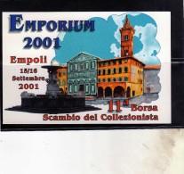ITALIA REPUBBLICA ITALY 2001 EMPORIUM EMPOLI BORSA SCAMBIO DEL COLLEZIONISTA LA MEDITAZIONE 2000 CARTOLINA POST CARD - Italie
