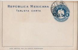 MEXIKO → Ganzsache 5 Centavos 1907   ►Veracruz◄ - Mexique