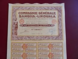 PART BENEFICIAIRE COMPAGNIE GENERALE SANGHA-LIKOUALA  BELLE DECO - Afrique