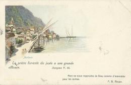 = AK CH GRUSS  MEILLERIE - Souvenir De...