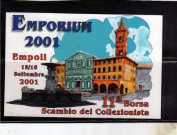 ITALIA REPUBBLICA ITALY 2001 EMPORIUM EMPOLI BORSA SCAMBIO DEL COLLEZIONISTA LA PACE 2000 CARTOLINA POST CARD - Italie