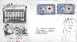 STERLING - ILLINOIS → International Red Cross  1952 ► Super Schöner Brief Nach Versoix ◄ - Timbres