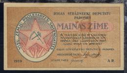 Lettland 1919  1 Rublis-Schein Des Arbeiterrat - Coins
