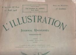 L´ILLUSTRATION 22 08 1908 - TURQUIE REVOLUTION - EXPEDITION CHARCOT POURQUOI PAS? - PLONGEON JOINVILLE LE PONT - TOULON - Journaux - Quotidiens