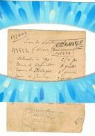"""Petit Papier Avec Le Processus Manuscrit De Fabrication De """" L'Eau Du Portugal """" PARFUM +/- 1890 (Fr10) - Parfum & Kosmetik"""