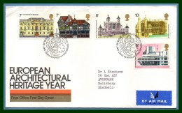 GB FDC European Architectural Heritage Year 1975 Edinburgh (def. Fente) - FDC