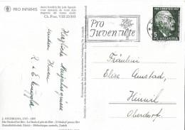 PRO INFIRMIS-KARTE  →  Der Neuhof Bei Birr ►J121 Mit Stempel ZÜRICH 30.07.1947◄ - Pro Juventute