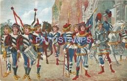 58362 ITALY ART SIENA TOSCANA COSTUMES APPEARANCE OF CONTRADA HEDGEHOG POSTAL POSTCARD - Italia
