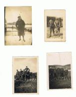 Armée Française Lot De 4 Petites Photos ( +/- 6 X 9 Cm) Guerre 14/18 - 40/45 (fr10) - Guerra, Militari