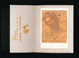 PUBLICITE ANCIENNE LABORATOIRE AUGOT YZEURE 03 ALLIER -  REPRODUCTION D UN TABLEAU DE LEONARD DE VINCI Tête De Léda - Publicidad