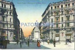 58380 ITALY NAPOLI CAMPANIA SQUARE AND MONUMENT NICOLA AMORE POSTAL POSTCARD - Italia