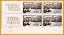TAAF **LUXE 1956 P 5 Bloc De 4 En Coin Daté 23.3.56 De 4v            La Photo Est Celle Du Produit Fourni. - Neufs