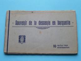 Souvenir De La DESCENTE En BARQUETTE ( 38/1 - 2 - 3 - 4 - 5 - 6 - 7 - 8 - 9 - 10 ) Carnet 10 Kaarten ( Zie Foto´s ) ! - Unclassified