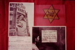 Photo Diapo Diapositive Vichy Et Collaboration N°12 L'antisémitisme Affiche Le Juif Et La France VOIR ZOOM - Diapositives