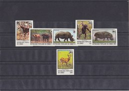 CONGO 1978 WWF Imperforated MNH With Mammals. - W.W.F.