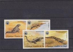 CONGO 1987 WWF Imperforated MNH With Crocodiles. - W.W.F.