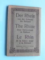 Der RHEIN Von Der SCHWEIZ Bis HOLLAND ( WIZICO ) Carnet / Album Mit 16 Ansichten ( Zie Foto´s ) ! - Vari