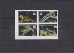 MADAGASCAR 1998 WWF Imperforated Serie Reptiles MNH (FIRST PRINT) - W.W.F.