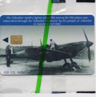 GIBRALTAR PHONECARD AIRPLANE/SPITFIRE-GIB-C21-5000pcs -1/00-MINT/SEALED-RARE!!!