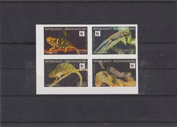 MADAGASCAR 1998 WWF Imperforated Serie Reptiles MNH (SECOND PRINT) - W.W.F.