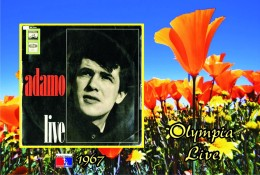 Carte Postale, Célébrités,  Chanteurs, Belgium, Full Collection Salvatore Adamo, 1967, Olympia Live (Germany) - Sänger Und Musikanten