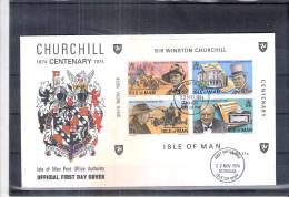 FDC Isle Of Man - Sir Winston Churchill - BLoc 1 (à Voir)
