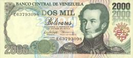 Venezuela 2000 Bolivares 1998 Pick 77 UNC - Venezuela