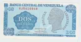Venezuela 2 Bolivares 1989 Pick 69 UNC - Venezuela