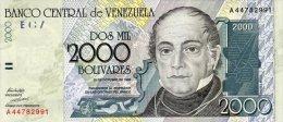 Venezuela 2000 Bolivares 1998 Pick 80 UNC - Venezuela
