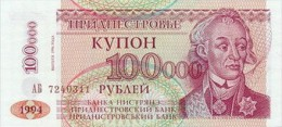 Transnistria  100000 Ruble  1994 Pick 31 UNC - Billets