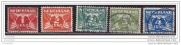 Netherlands 1924-26, Gull, Sc#142-146, Used - Gebruikt