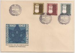Portugal FDC 1964 - 4º Cent. Goa Coloquios Dos Simples E Drogas Garcia D´Orta - 1º Dia De Circulação - Af. Nº 925/927 - FDC