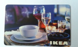 GIFT CARD - SWITZERLAND - IKEA - 2007 - PLATE AND GLASSES - Gift Cards